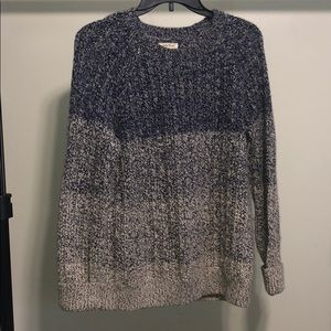 Lucky Brand Beige And Blue Large Sweater